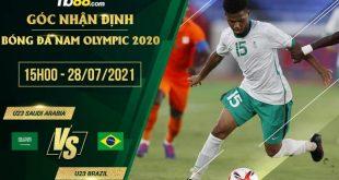 Soi kèo U23 Saudi Arabia vs U23 Brazil